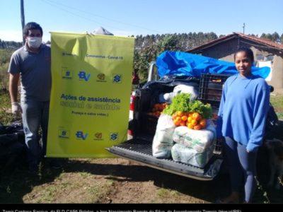 11 toneladas de alimentos da agricultura familiar são entregues em comunidades da região sul do RS