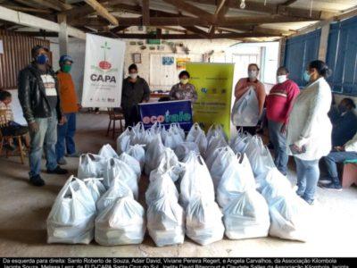 Famílias kilombolas recebem produtos da agricultura familiar