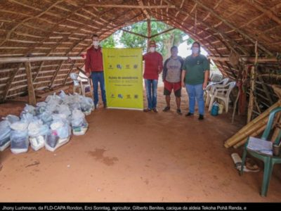 Comunidades indígenas do Oeste do Paraná recebem alimentos agroecológicos